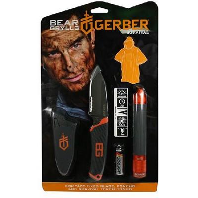 Promo Ліхтар+ніж+пончо Gerber Bear Grylls блістер фото