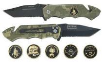 Нож раскладной PATROL SURVIVAL CAMO