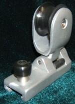 Каретка анодированная стаксель шкота с блоком и стопором для погона 25 мм